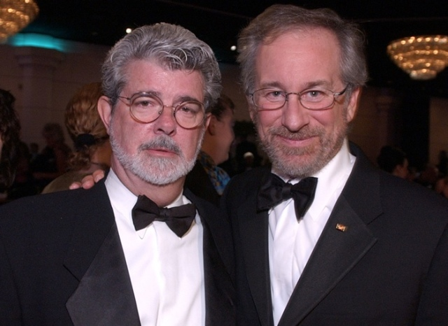 george lucas and spielberg tux