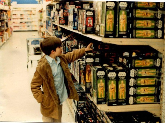 Retro Photo, Shopping For Kenner Star Wars