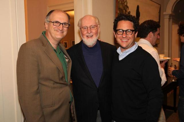 Mark Volpe, the BSO's managing director, John Williams, and J.J. Abrams.