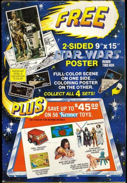 1978 Cheerio's Box Advertising Star Wars